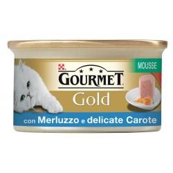 Gourmet Gold Mousse con Merluzzo Verdure e Carote 85 gr Cibo per Gatti