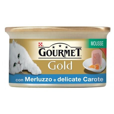 Gourmet Gold Mousse con verdure Merluzzo e Carote