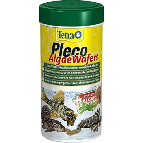 Tetra Pleco Algae Wafers 250 ml 105g compresse per pesci fondo acquario