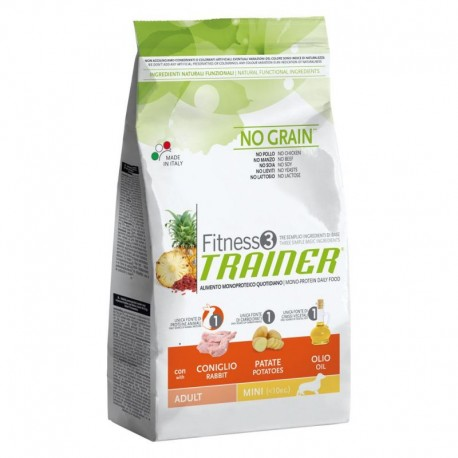 Trainer Fitness 3 Adult Mini No Grain Coniglio 7,5 Kg