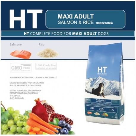 HT Dog Maxi Adult Salmone e Riso 3 kg Crocchette per Cani