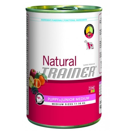 Trainer Natural Puppy & Junior Medium Umido 400 gr