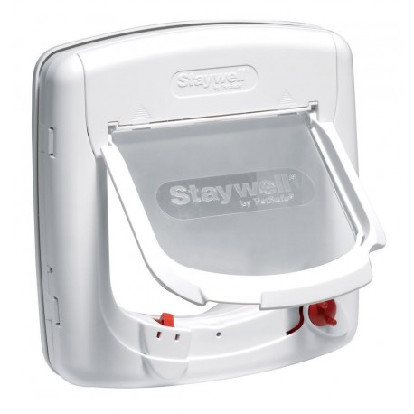 Staywell Deluxe 300 Gattaiola Porta Basculante 4 vie per Gatti Bianca