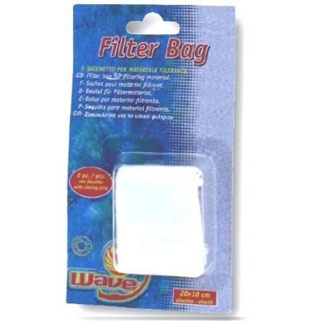Sacchetto per materiale filtrante confezione 2 pezzi con fascette per acquario