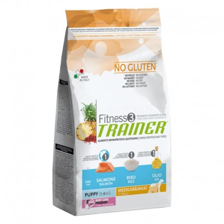 Trainer Fitness 3 Puppy Medium/Maxi Salmone & Riso kg 3