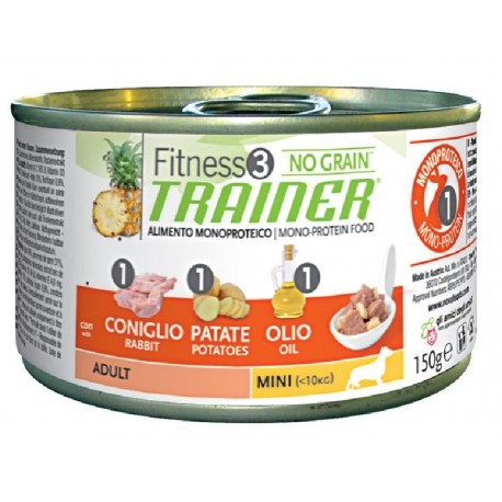 Trainer Fitness 3 Adult Mini Coniglio 150 gr Umido per Cane