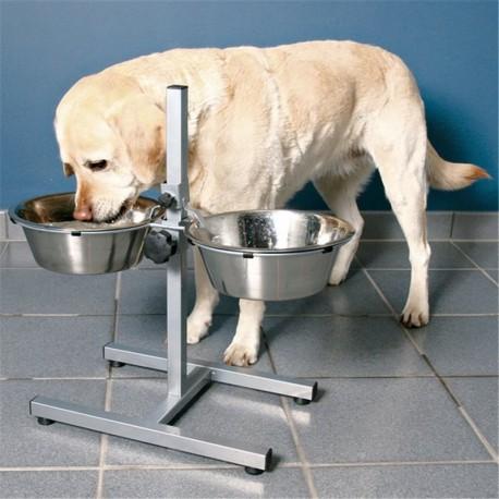Trixie Bar per Cani con 2 ciotole rialzate incluse Ø 28cm per Cane Grande