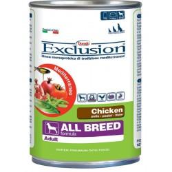Exclusion Mediterraneo Adult Pollo 400 gr Umido