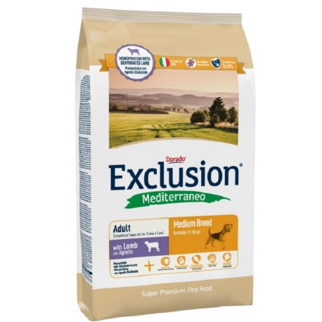 Exclusion Mediterraneo Adult medio Agnello 12,5 kg