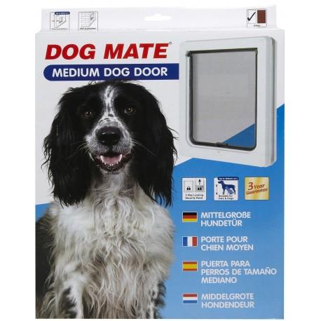 Dog Mate 215 Bianca Porta Basculante per Cani Taglia Media fino a 12 kg