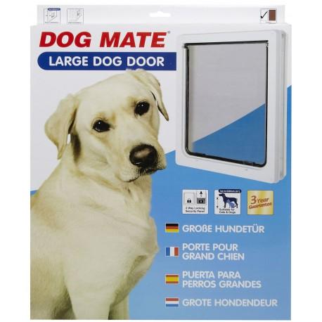 Dog Mate 216 Bianca Porta Basculante per Cani Taglia Grande fino a 45 kg