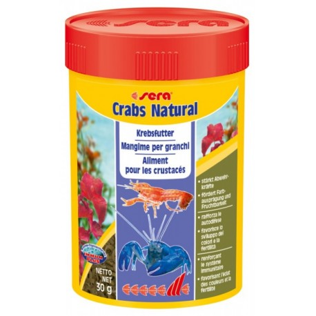 Sera Crabs Natural 100 ml 30g Mangime per Granchi