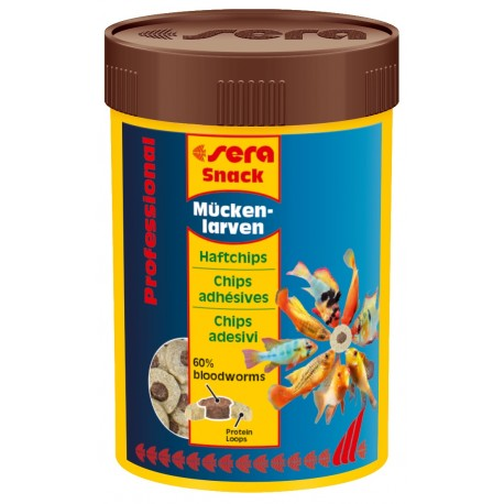 Sera Snack Larve Professional 100 ml Chips Adesivi per Pesci