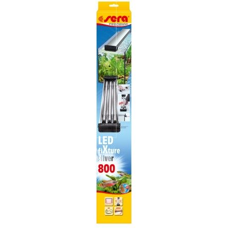 Sera LED FiXture 800 mm Silver Plafoniera per max 3 Tubi a Led