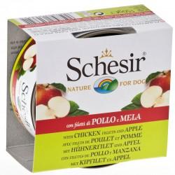 Schesir Dog 150 gr Filetti pollo e mela Umido per Cane
