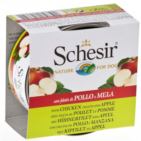 Schesir Dog 150 gr Filetti pollo e mela Umido per Cane