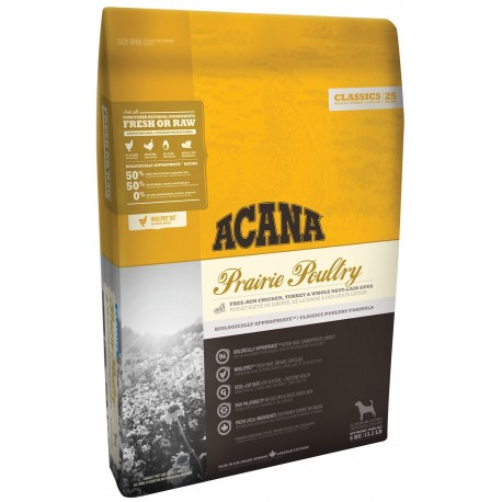 Acana Adult Dog Classics Prairie Poultry 11,4 kg Crocchette per Cani