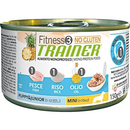 Trainer Fitness 3 Puppy Mini con Pesce Riso e Olio 150 gr Umido per Cane