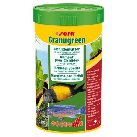 Sera Granugreen 250 ml 135g Mangime in Granuli per Ciclidi Acquario