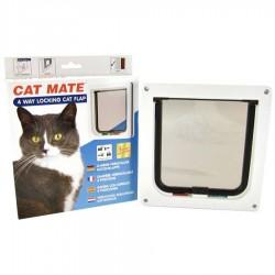 Cat Mate 235 Bianca 4 Funzioni Porta basculante Gattaiola per Gatto