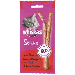 Whiskas Sticks con Manzo 18g - Snack per Gatti
