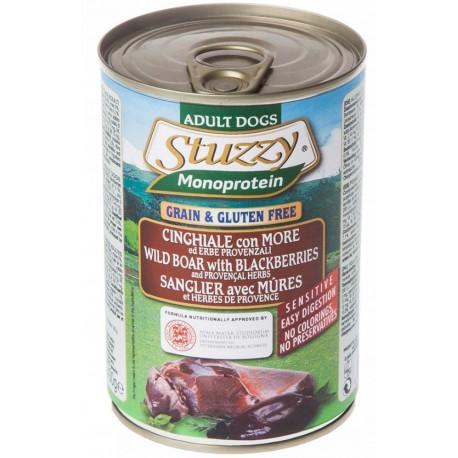 Stuzzy Dog Monoprotein Cinghiale con More 400 gr Cibo Umido per Cane