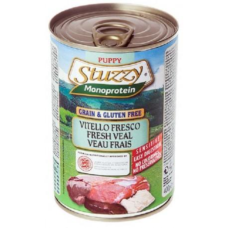 Stuzzy Dog Puppy Monoprotein Vitello Fresco 400 gr Cibo Umido per Cane