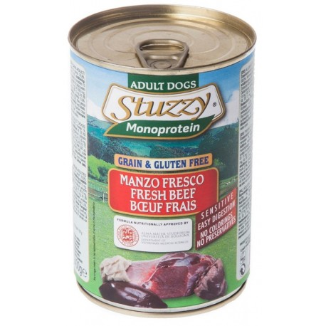 Stuzzy Dog Monoprotein Manzo Fresco 400 gr Cibo Umido per Cane