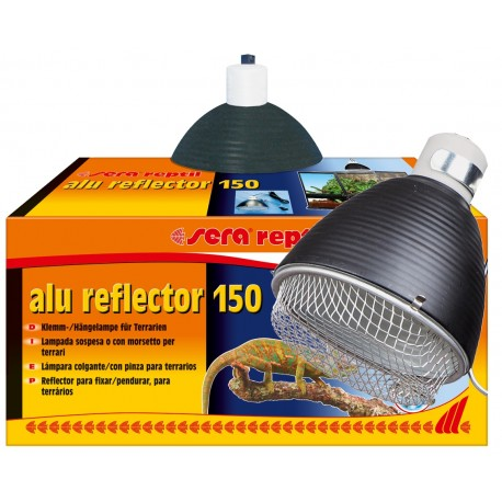 Sera Reptil Alu Reflector 150 Riflettore con Portalampada E27 per Terrari