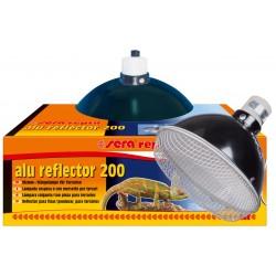 Sera Reptil Alu Reflector 200 Riflettore con Portalampada E27 per Terrari