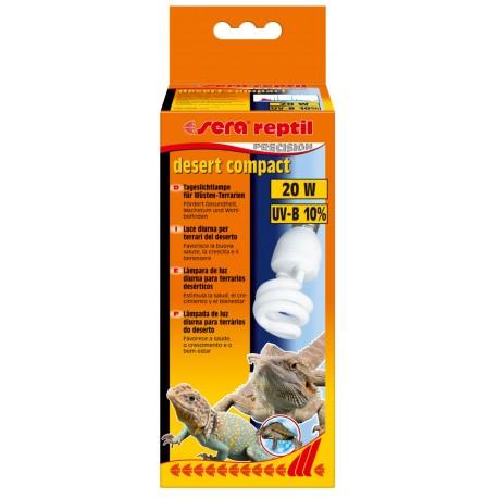 Sera Reptil Desert Compact 10% UV-B 20w Lampada diurna per Rettili