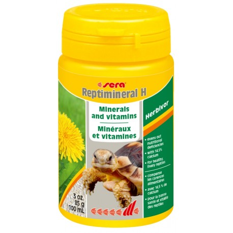 Sera Reptimineral H 100 ml 85g Minerali e Vitamine per Rettili Erbivori