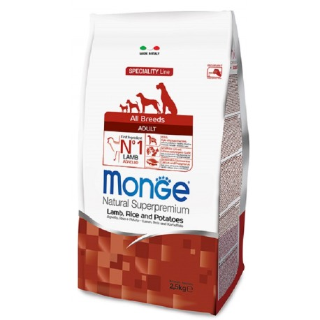 Monge All Breeds Adult Agnello 2,5 Kg Crocchette per Cane