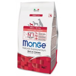 Monge Mini Puppy & Junior Ricco di Pollo 3 Kg