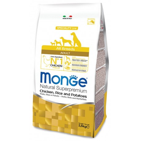 Monge All Breeds Adult Pollo 2,5 Kg Crocchette per Cane