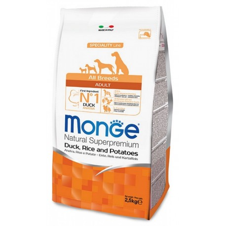 Monge All Breeds Adult Anatra 2,5 Kg Crocchette per Cane