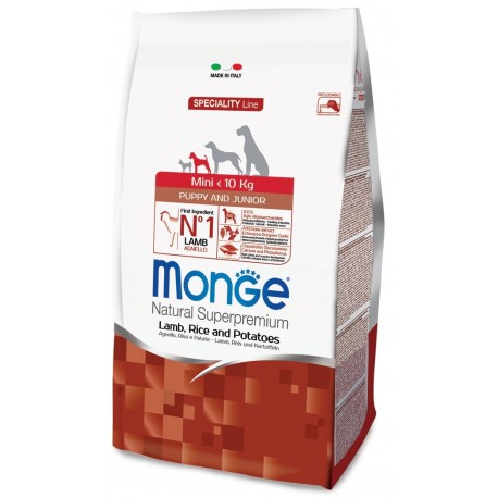 Monge Puppy & Junior Mini Agnello 2,5 Kg Crocchette per Cucciolo