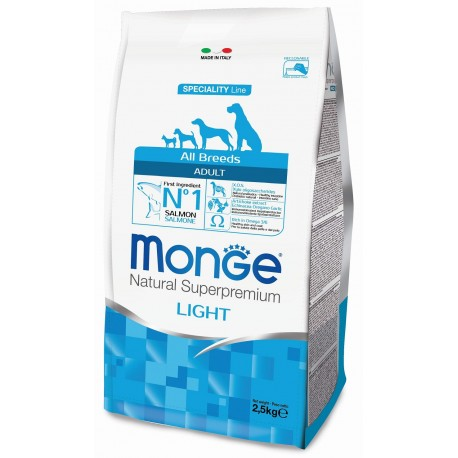 Monge All Breeds Adult Light Salmone 2,5 Kg Crocchette per Cane