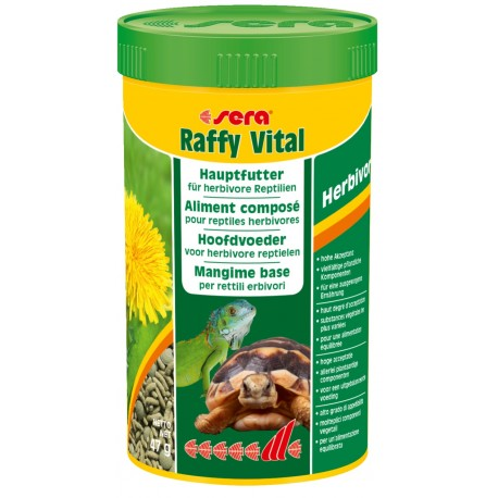 Sera Raffy Vital 250 ml 47gr Mangime per Rettili e Tartarughe di Terra