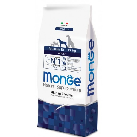 Monge Medium Adult Ricco di Pollo 3 kg