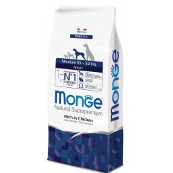 Monge Medium Adult Ricco di Pollo 12 kg
