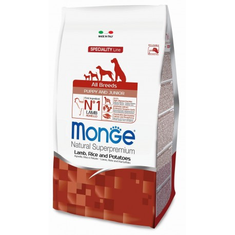 Monge All Breeds Puppy & Junior Agnello e Riso 12 Kg