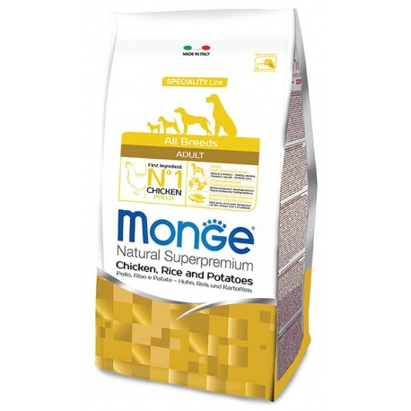 Monge All Breeds Adult Pollo, Riso e Patate 12 kg