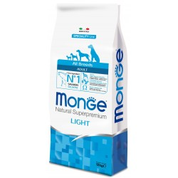 Monge All Breeds Adult Light Salmone e Riso 12 kg