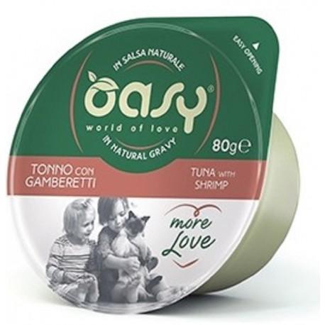 Oasy More Love Green Cup Tonno Con Gamberetti 80 g