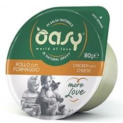 Oasy More Love Green Cup Pollo Con Formaggio 80 g
