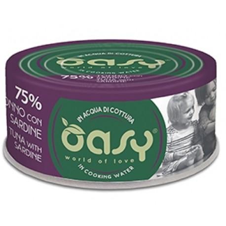 Oasy More Love 75% Tonno con Sardine in acqua di cottura 70 g