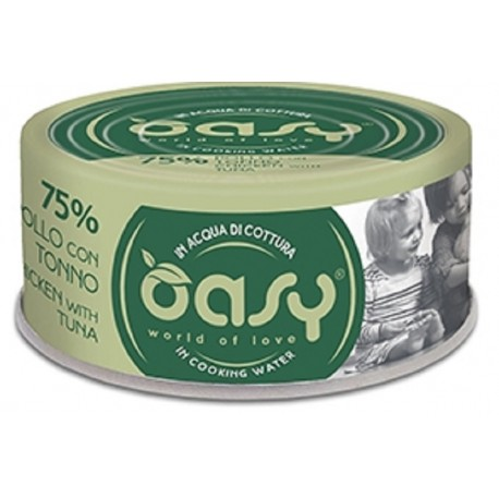 Oasy More Love 75% Pollo con Tonno in acqua di cottura 70 g