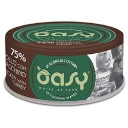 Oasy More Love 75% Pollo con Tacchino in acqua di cottura 70 g