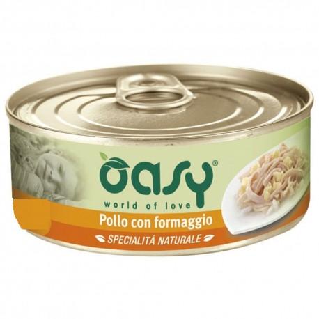 Oasy Wet Cat Specialità al Naturale Pollo con Formaggio 150 gr